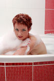Woman In Bubble Bath Stock Images