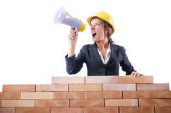 Woman builder Royalty Free Stock Photo