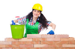 Woman builder Stock Photos