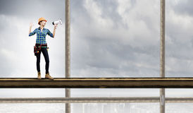 Free Woman Builder Royalty Free Stock Image - 45743436