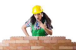 Woman builder Royalty Free Stock Images