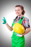 Woman builder Royalty Free Stock Photos