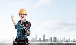 Woman builder Stock Photos