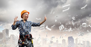 Woman builder Stock Photography