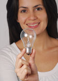 Woman bulb. Royalty Free Stock Images