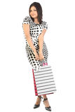 Woman with a bunch of shopping bags Stock Image