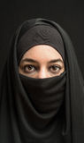Woman in burka Royalty Free Stock Photography