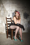 Woman in burlesque outfit Stock Photography