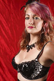 Woman in burlesque outfit Royalty Free Stock Photos
