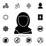 a woman in a burqa icon. Religion icons universal set for web and mobile stock illustration