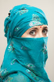 Woman in burqa with Tilaka Royalty Free Stock Photography