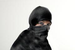 Woman in burqua. A beautiful woman wearing a burqua, or hajib Stock Image