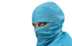 Woman in burqua. A beautiful woman wearing a burqua, or hajib Stock Photos