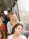 Woman on the bus Royalty Free Stock Photography