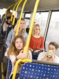 Woman on the bus Royalty Free Stock Photo