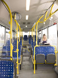 Woman on the bus Stock Image