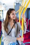 Woman on bus Stock Photos