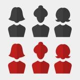 Woman business avatar set Royalty Free Stock Image