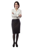Woman in business clothes with arms crossed Royalty Free Stock Photos