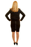 Woman with business clothes taken from the back Royalty Free Stock Photo