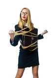 Woman in business concept Stock Photos
