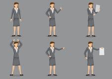 Woman Business Executive Vector Character Set Stock Photo