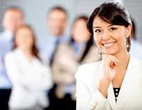 Woman with a business group Royalty Free Stock Images