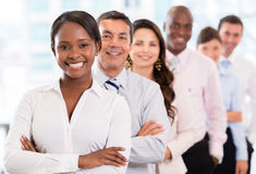 Woman with a business group Stock Photo