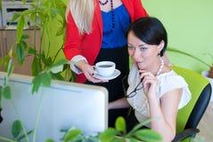 Woman business office coffee break Royalty Free Stock Image