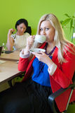 Woman business office drink coffee break Royalty Free Stock Images
