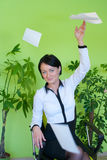 Woman business office vacation concept Stock Photos