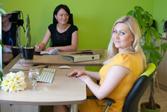 Woman business office work Royalty Free Stock Image