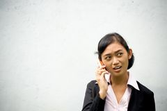 Woman in business phone call Stock Images