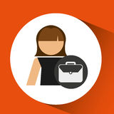 Woman business portfolio file icon design. Illustration Stock Images