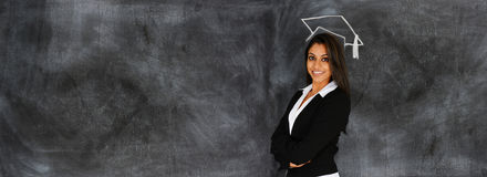 Woman At Business School Stock Images