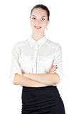 Woman in business style with crossed arms Royalty Free Stock Photo