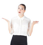 Woman in business style surprised Stock Image