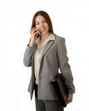 Woman in business suit Royalty Free Stock Images