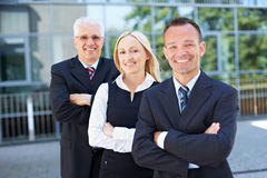 Woman in a business team Royalty Free Stock Image