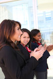 Woman Business Team Clapping Royalty Free Stock Image