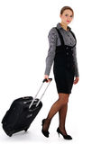 Woman and business travel. Attractive business woman royalty free stock photo