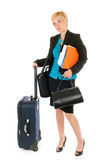 Woman business travel Stock Photo
