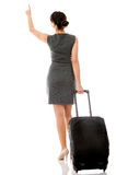 Woman on a business trip Royalty Free Stock Photography