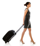 Woman on a business trip Royalty Free Stock Photo