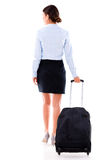 Woman on a business trip Stock Images