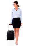 Woman on a business trip Royalty Free Stock Photos
