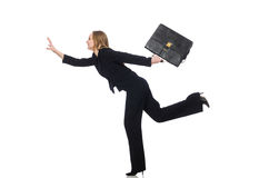 The woman businesswoman with briefcase Royalty Free Stock Photos