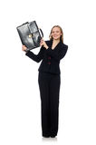 The woman businesswoman with briefcase Royalty Free Stock Image