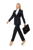 The woman businesswoman with briefcase isolated on Stock Image