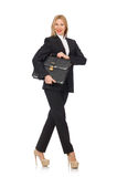 The woman businesswoman with briefcase isolated on Stock Photo